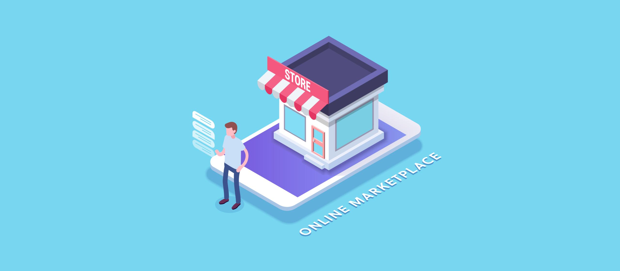 تصميم سوق الكتروني
