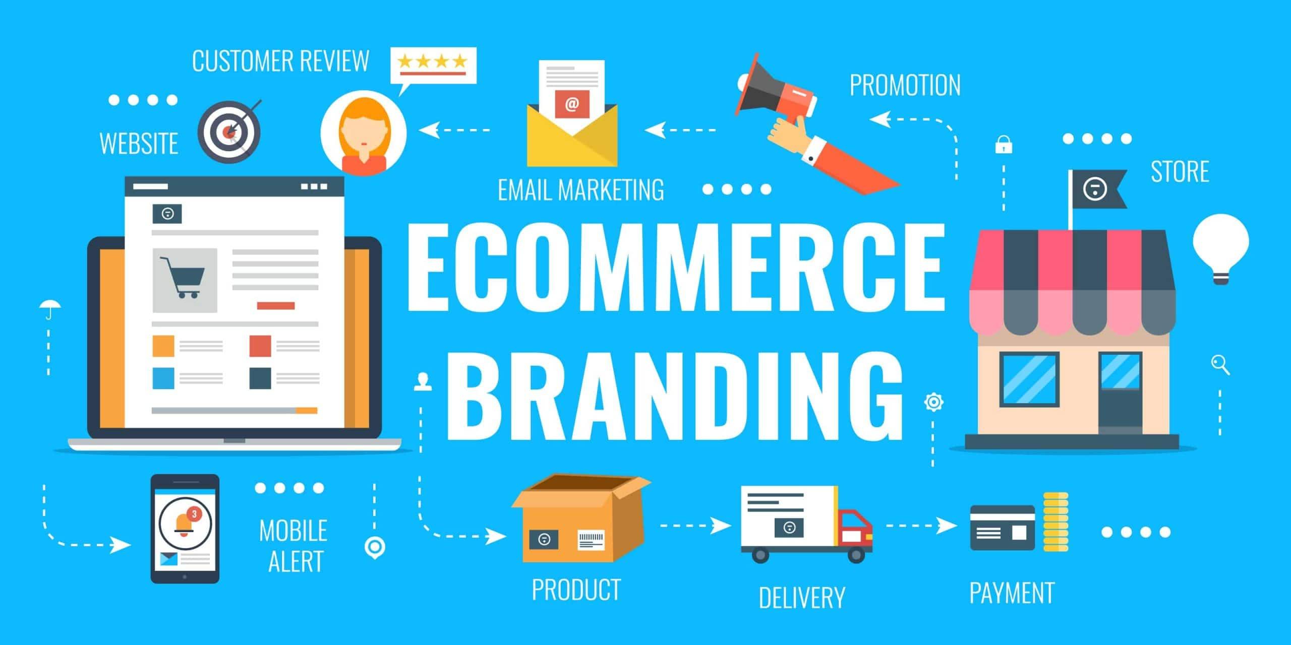 تصميم علامة تجارية لا تُنسى خاصة بـ التجارة الإلكترونية