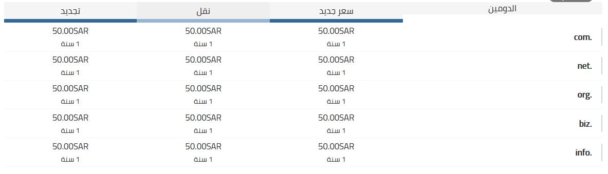 أسعار حجز دومين سعودي مع وثاق